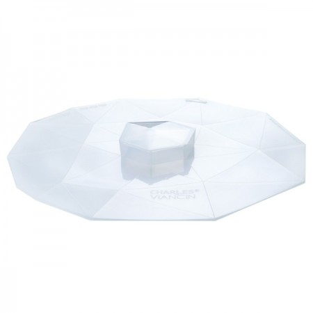 """Crystal Silicone Reusable Food Cover round med 9"""" 23cm"""