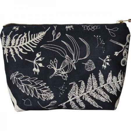 One Thousand Lines Gathered Pouch - Black