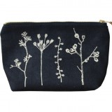 One Thousand Lines Botanica Pouch - Black