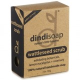 Dindi Palm Oil Free Natural Soap 110g - Wattleseed Scrub