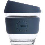 JOCO Small Glass Coffee Cup 235ml 8oz - Folkstone Grey