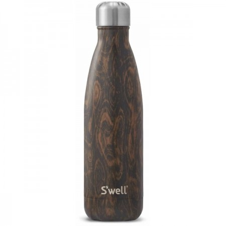 S'Well Wenge Wood Insulated Stainless Steel Bottle 500ml