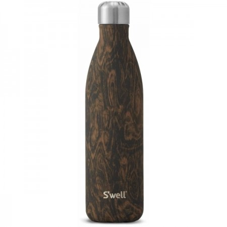 S'Well 750ml Wenge Wood Insulated Stainless Steel Bottle