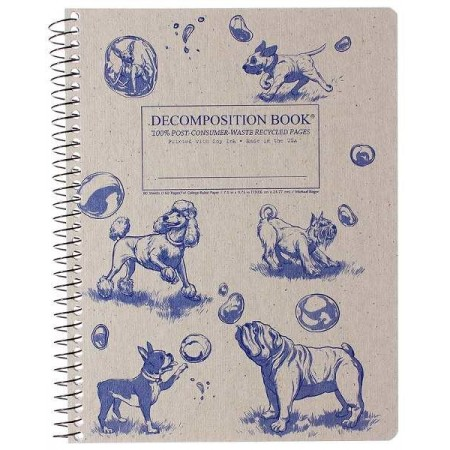 Decomposition Spiral Notebook - Dogs and Bubbles