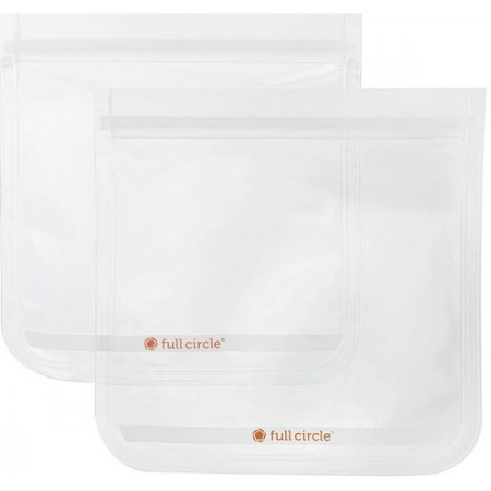 Full Circle ZipTuck Reuseable Sandwich Bags 2pk - Clear