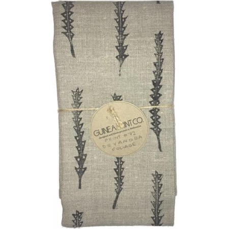 Guinea Print Co. Linen Tea Towel - Dryandra Foliage