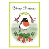 Paula Peeters Christmas Greeting Card - Scarlet Robin