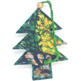 Fair Trade Sari Fabric Christmas Decoration Single (1)