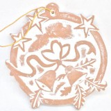 Fair Trade Terracotta Wreath Christmas Decoration