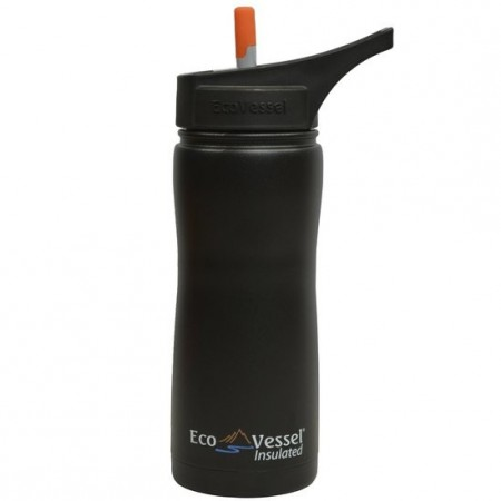 EcoVessel Summit Insulated Water Bottle 500ml - Black Shadow