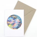 Oh Crumbs Art Watercolour Card - Reef Life