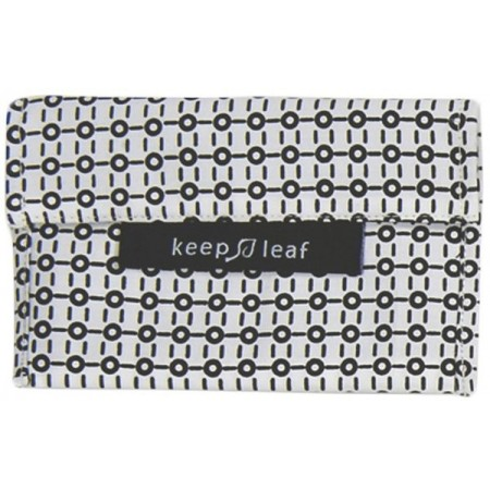 Keep Leaf Small Baggie - Black & White