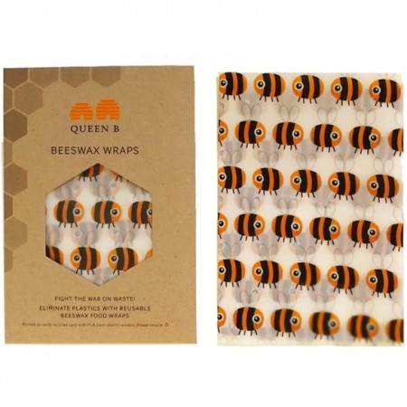 Queen B Beeswax Bread Wrap (Single) - Colour Pattern