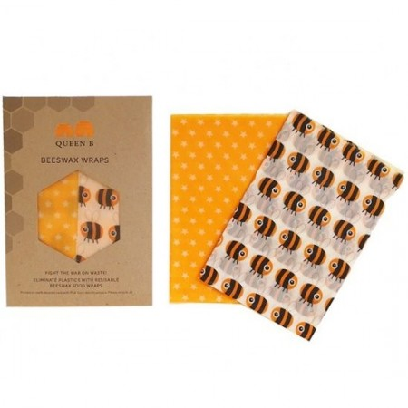 Queen B Beeswax Wraps Large (2pk) - Colour Pattern