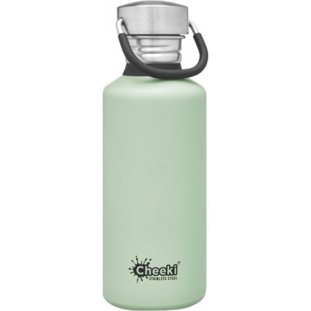 Cheeki 500ml Stainless Steel Water Bottle - Pistachio