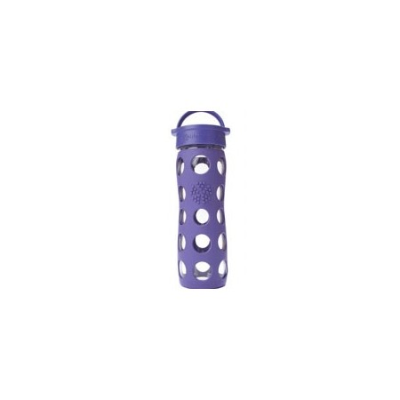 Lifefactory Glass Water Bottle loop cap 16oz 475ml - royal purple