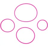 Go Green Lunch Box Replacement Seals 4pk - Pink