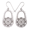 Polli stainless steel earrings - doily (med)