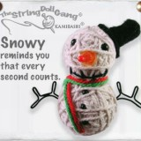 String Doll Gang keyring - snowy