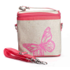 Insulated lunch bag small - pink butterfly by SoYoung