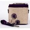 Insulated lunch bag small - purple dandelion by SoYoung