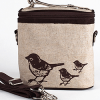 Insulated large lunch bag - brown birds by SoYoung