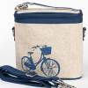 Insulated large lunch bag  - blue bike by SoYoung