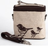 Buy Insulated lunch bag small - brown birds by SoYoung
