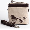Insulated lunch bag small - brown birds by SoYoung