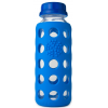 Glass water bottles - 250ml Lifefactory beverage bottle (ocean)