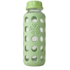 Glass water bottles - 250ml Lifefactory beverage bottle (spring green)