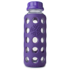 Glass water bottles - 250ml Lifefactory beverage bottle (purple)