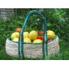 Jute gathering basket - green trim