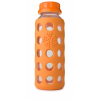 Glass water bottles - 250ml Lifefactory beverage bottle (orange)