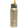 Nathan 0.7L stainless steel flip straw bottle - steel