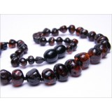 Buy Baltic amber healing necklace - walnut