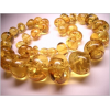 Baltic amber healing necklace - honey