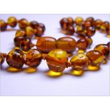 Buy Baltic amber healing necklace - cognac