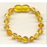 Buy Baltic amber kids bracelet - cognac