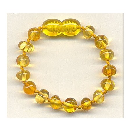 Baltic amber kids bracelet - honey