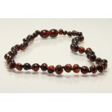 Buy Baltic amber teething necklace - cognac