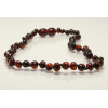 Baltic amber teething necklace - walnut