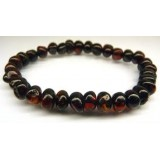 Buy Baltic amber kids bracelet - walnut