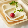 Green Bean eco tableware - plate (small square)