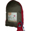 Onya Back stuff away backpack - olive/chilli (garden)