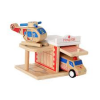 Click Clack wood puzzle garage - hospital NEW
