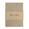 Petite brown notepad (lined)