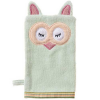Organic cotton bath mitt - sleepy owl