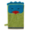 Organic cotton bath mitt - funny bird