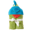 Organic cotton hooded bath towel - funny bird